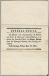 Funeral Notice for Roger Barton Clark by Author Unknown