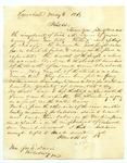 B. Montgomery to J. E. Davis, 6 May by B. Montgomery and Joseph E. Davis