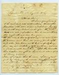 B. Montgomery to J. E. Davis, 8 August by B. Montgomery and Joseph E. Davis