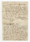 """Letter from W. S. Featherston to """"Board of Registrars of Marshall County, Mississippi."""" 24 October 1867 by Winfield Scott Featherston"""