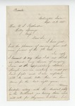 Letter from J. A. Wofford to Gen. W. S. Featherston. 23 January 1869 by J. A. Wofford