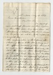 """Letter from A. C. McEwen to """"My Dear Daughter"""" 19 August 1869 by A. C. McEwen"""