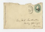 """Letter from Winfield to """"Dear Papa."""" 5 December 1872 by Author Unknown"""