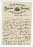 Letter from A. H. Garland to W. S. Featherston. 21 October 1875 by A. H. Garland