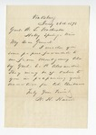 Letter from J.C. Johnston to General Featherston. 9 February 1878 by J. C. Johnston