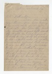"""Letter from W. S. Featherston to """"My Dear Son."""" 4 August 1884 by Winfield Scott Featherston"""