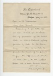 Letter from E. P. Alexander to Featherston. 29 October 1887 12 September 1866 by E. P. Alexander
