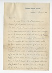 Letter dated from G. A. Montgomery to W. S. Featherston. 26 January 1888 by G. A. Montgomery