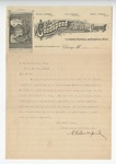 Letter from James H. Capers to General Featherston. 11 October 1897 19 March 1897 by James H. Capers