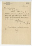 Letter from D. M. Featherston to Aikins & Judge. 1 May 1900 by D. M. Featherston