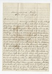 """Letter from S. H. Harris to """"My dear brother."""" 9 September 1866 by S. H. Harris"""