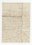 """Letter from """"Sallie"""" to """"Dear Brother."""" 20 May 1867 by Author Unknown"""
