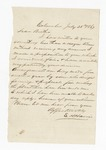 """Letter from S. H. Harris to """"Dear Brother."""" 26 July 1867 by S. H. Harris"""