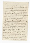 """Letter from S. H. Harris to """"Dear Brother."""" 4 August 1867 by S. H. Harris"""