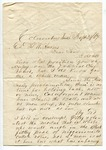 """Letter from S. H. Harris to """"Dear Brother."""" 23 September 1867 by S. H. Harris"""