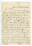 """Letter from S. H. Harris to """"Brother."""" 2 October 1867 by S. H. Harris"""