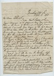 """Letter from S. H. Harris to """"Dear Brother."""" 23 February 1868 by S. H. Harris"""