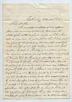 Letter dated from James W. Roberson to Colonel Thomas W. Harris. 14 March 1868 by James W. Roberson