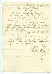 """Letter from S. H. Harris to """"Dear Brother."""" 11 January 1871 by S. H. Harris"""