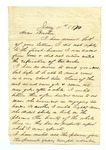 """Letter from S. H. Harris to """"Dear brother."""" 7 February 1871 by S. H. Harris"""