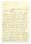 """Letter from Thomas M. Harris to """"Dear Father."""" 4 August 1871 by Thomas M. Harris"""