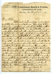 """Letter from S. H. Harris to """"Dear Brother."""" 3 September 1871 by S. H. Harris"""