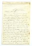 """Letter from T. M. Harris to """"Dear Father."""" 28 September 1871 by Thomas M. Harris"""