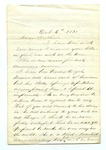 Letter from W. C. Miller to T. W. Harris. 12 November 1871 by W. C. Miller