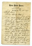 """Letter from S. H. Harris to """"Dear Brother."""" 6 January 1872 by S. H. Harris"""