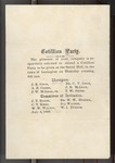 Invitation to Cotillion Party (6 July 1869)