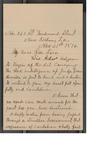 J. J. Armistead to Anna Eliza Gage Evans (21 November 1896) by J. J. Armistead and Anna Elizabeth Gage Evans