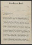 H. Q. Bridges to Mrs. V. G. Armistead (26 July 1913) by H. Q. Bridges and Virgie Gage Armistead