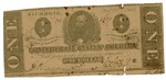 1 dollar bill by Confederate States of America