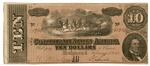 10 dollar bill, seventh issue by Confederate States of America