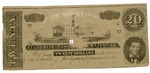 20 dollar bill, seventh issue by Confederate States of America