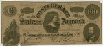 100 dollar bill, seventh issue by Confederate States of America