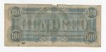 100 dollar bill, Confederate States of America, verso by Confederate States of America