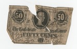 50 cent bill, Confederate States of America by Confederate States of America