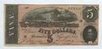 5 dollar bill, Confederate States of America by Confederate States of America