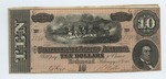 10 dollar bill, Confederate States of America by Confederate States of America
