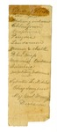 Folder 3: Undated 19th Century Financial Documents, Lists, and Medical Lists