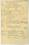 Accounting Sheet, dated 1861-1867
