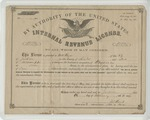 I.R.S. License to Practice as a Physician (3 February 1866) by United States. Internal Revenue Service