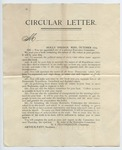 "Printed ""Circular Letter"" by W.S. Featherston. October 1879"