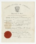 Deposit of W. S. Featherston's Presidential Proclamation