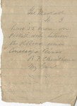 B. F. Cheatham to Brig. Gen. William MacKall (Undated) by Benjamin Franklin Cheatham (1820-1886)