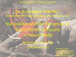 Nationalism and the Reception of Greco-Roman-Antiquity in Heavy Metal by Kristopher Fletcher
