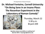 On Being Sane in an Insane Place: The Rosenham Experiment in the Laboratory of Roman Comedy by Michael Fontaine