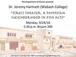 Street Theater: A Pompeiian Neighborhood in Five Acts by Jeremy Hartnett
