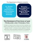 The Expressive Function of Law: Problems and Possibilities by Thomas McGinn
